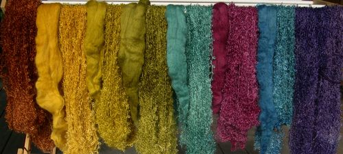 Dyed rovings, mohair