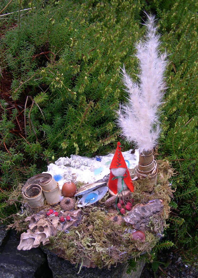 gnome gardens and beeswax candles - Ruby Slippers