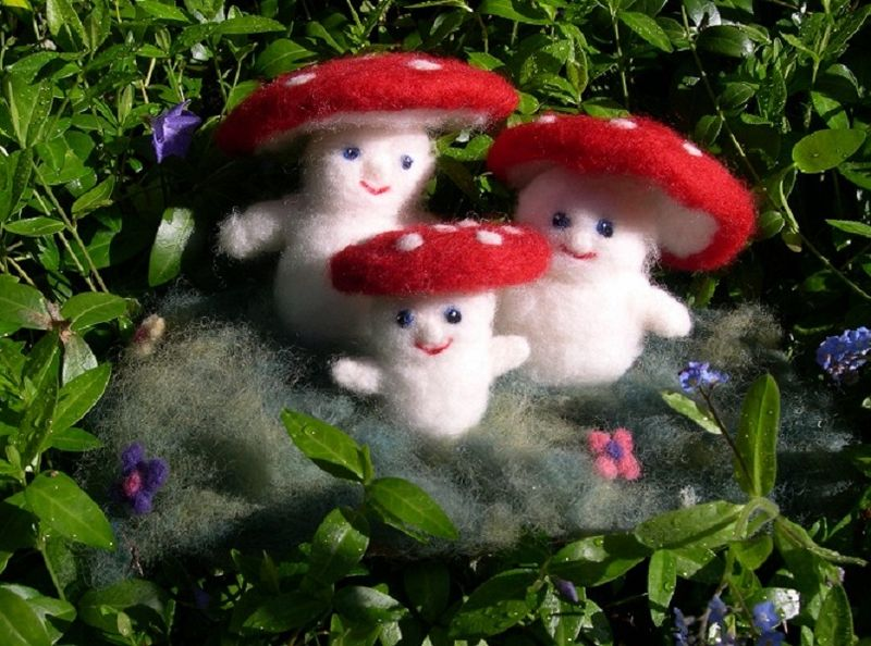 Needlefeltedmushrooms